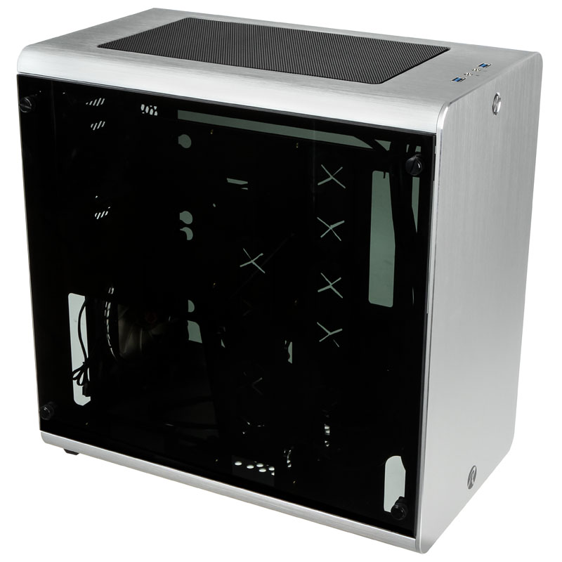 Raijintek THETIS Midi-Tower Case - Silver - Window