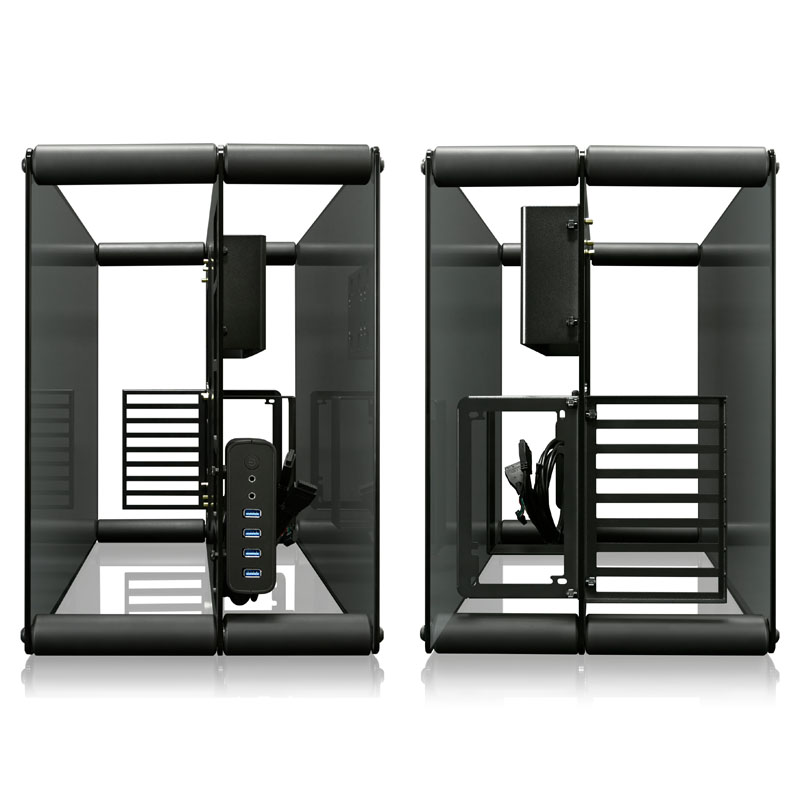 Raijintek PAEAN Benchtable / Showcase - Black - Window