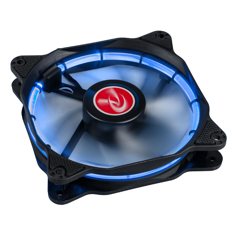 Raijintek Auras 12 LED Fan - Blue - PWM - 120mm - (800-1800 rpm) - 2-pack
