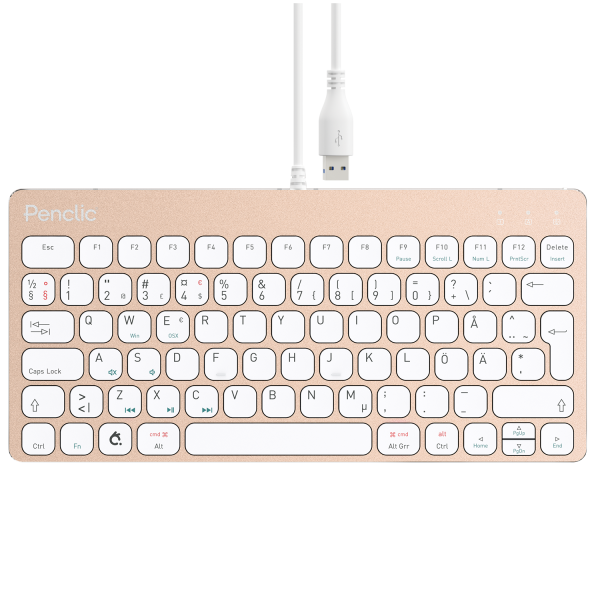 Penclic Mini Keyboard C3 corded Se/Fi - Gold