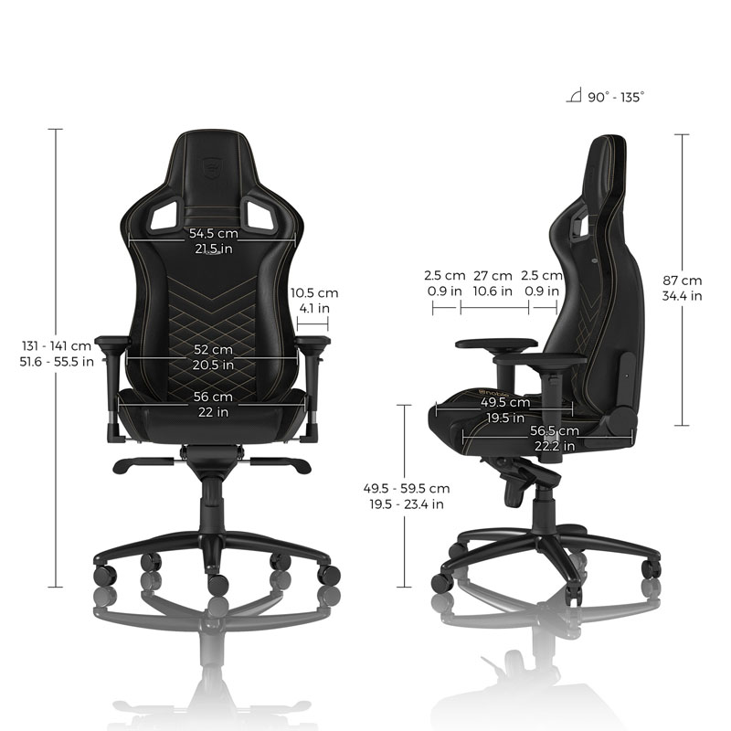 noblechairs EPIC Series Faux Leather, black/gold