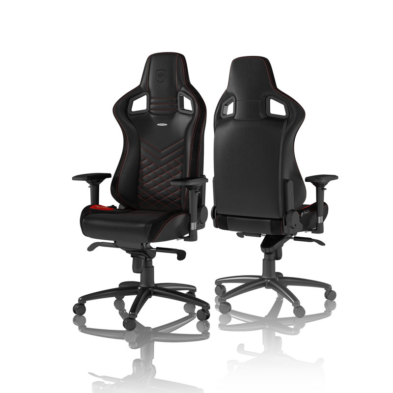 noblechairs EPIC Series Faux Leather, black/red