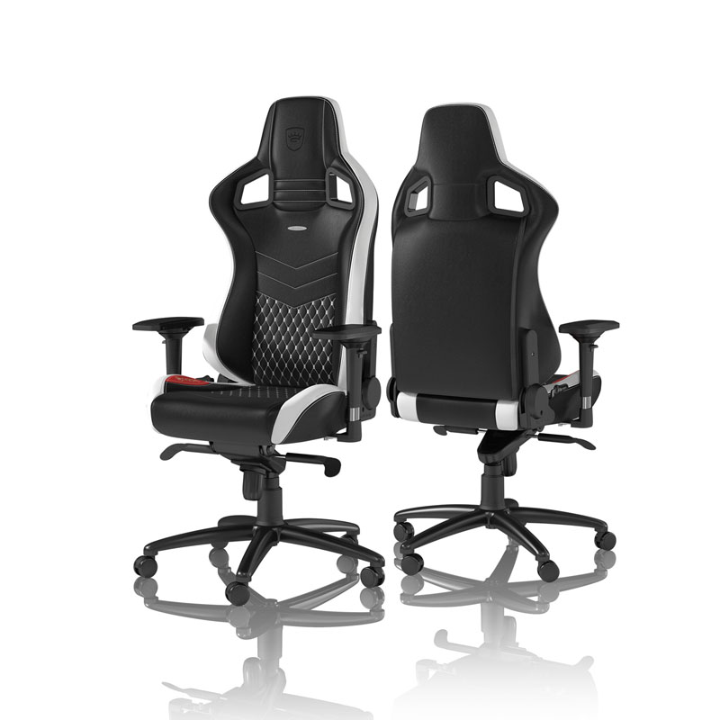 noblechairs EPIC Series Real Leather, black/white/red
